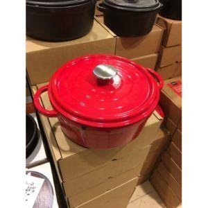 gietijzeren braadpan rood 28cm