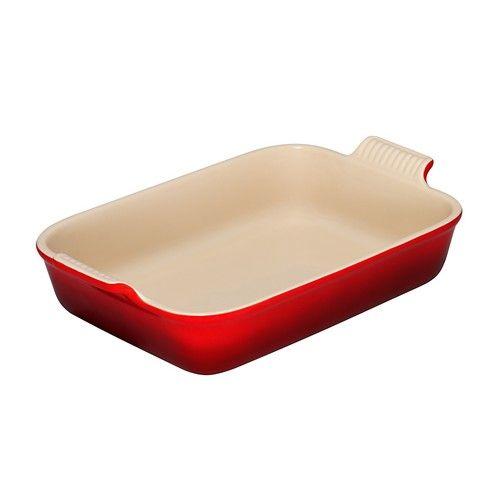 Le Creuset ovenschaal rechthoek - 19cm - rood