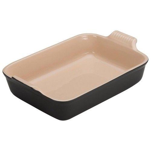Le Creuset ovenschaal rechthoek - 19cm - zwart