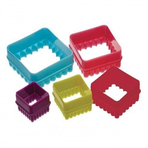Set van zes vierkante uitstekers